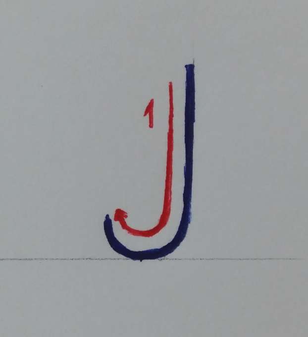 CYMERA_20161225_003215 آموزش حرف J بزرگ (capital J tutorial)